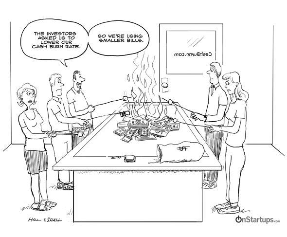onstartups burning cash
