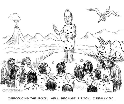 onstartups irock cartoon