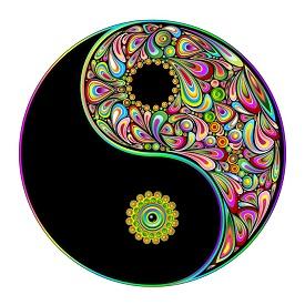 yin yang colorful